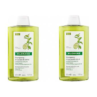 Citron pulp purifying shampoo pack 2 units of 400ml
