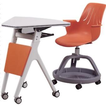 Children's Study Chair Training Chair Student Chair With Table (ivory)