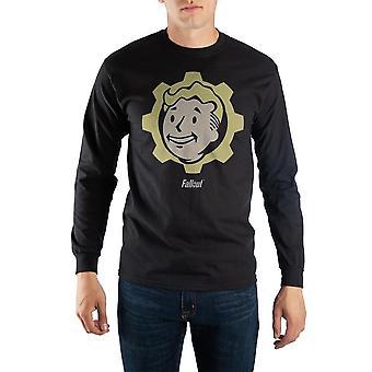 Black long sleeve fallout vault boy t-shirt