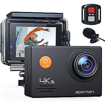 Action Kamera A79, 4K 20MP WiFi Webcam Unterwasser wasserdicht 40M