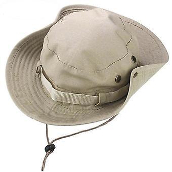 Chapeau large de bord de chasse de toile et chapeau militaire de seau
