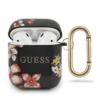 Guess 4G Shiny Flower Case pour Apple Airpods 1 & 2 - Design N.4
