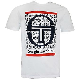 Sergio Tacchini Fiume Mens T-Shirt Graphic Branded Top White 38726 103