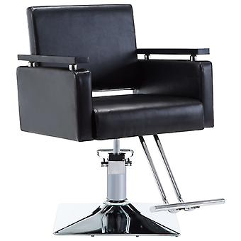 Hairdresser's Chair Leather Imitation Black