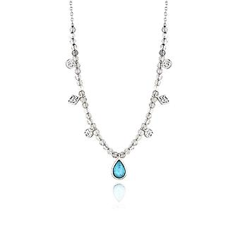 Ania Haie Silver Rhodium Plated Turquoise Labradorite Necklace N014-03H