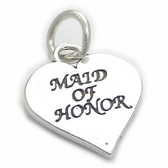 Maid Of Honor Sterling Silver Charm .925 X 1 Wedding Charms - 4134