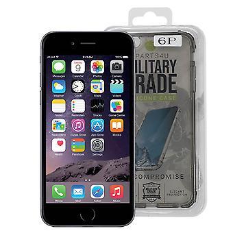iParts4u תיק סיליקון ברמה צבאית - iPhone 6 פלוס/6S פלוס - שחור