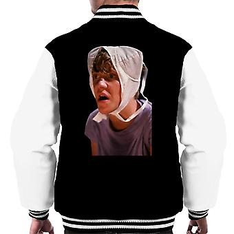 Weird Science Gary med bh på huvudet Men & apos, s Varsity Jacket