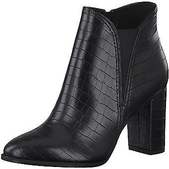 Booties Middle Heels Black Croco