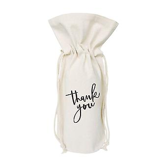 Thank You-cotton Canvas Wine Bag