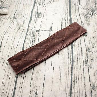Comodidad flexible ajustable terciopelo diadema marrón