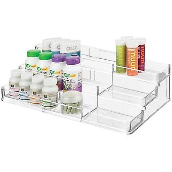 mDesign Medicine Organiser Unit — Medication and Pill Organiser for Cabinets and Cupboards