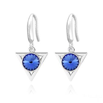 Silver sapphire blue  earrings