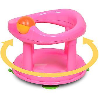 Säkerhet 1:a svängbara babybadet 360 graders stödstol rosa