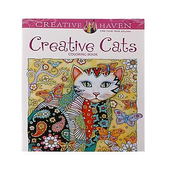 Creative Cat Coloring Book, Kill Time Painting Drawing Book