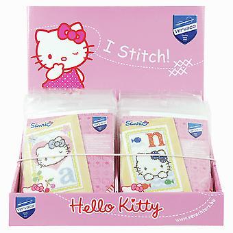 Unità display contatore Vervaco: Hello Kitty Counted Cross Stitch Alphabet Designs: 26 Kit