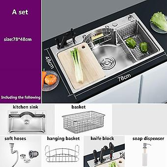 Multi Function Kitchen Sink, Single Bowl Above Counter Or Under Mount Sinks