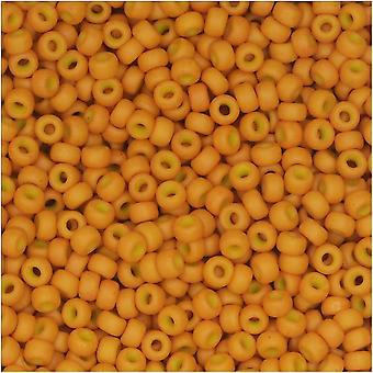 Круглые бусины Miyuki, 11/0, 8,5 грамм тюбик, #2041 специальная окрашенная бледная тыква (желто-оранжевая)