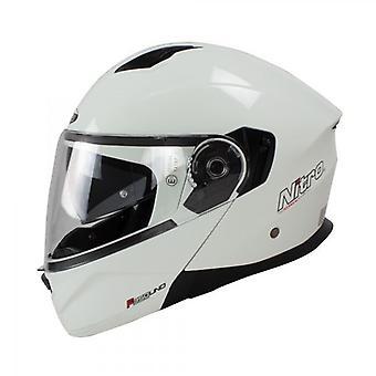 Nitro Helmet F350 Uno DVS Gloss White 64 F 350 Cruiser Touring Tourer