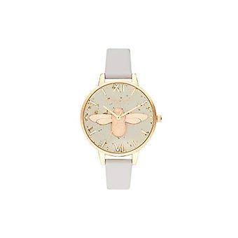 Olivia Burton Quartz Horloge met Lederen Band OB16GD37