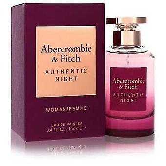 Abercrombie & Fitch Authentic Night By Abercrombie & Fitch Eau De Parfum Spray 3.4 Oz (women)