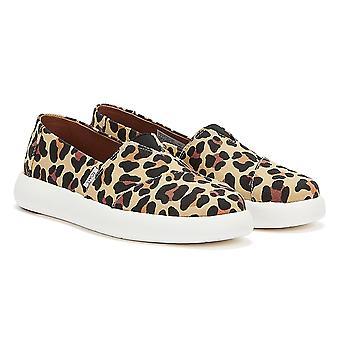 TOMS Alpargata Mallow Womens Beige Leopard Print Shoes