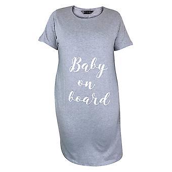 Damen Mutterschaft Pflege Nachtwäsche Jersey Nightie