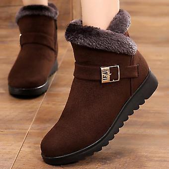Winter Zipper Platform Ankle Boots, Casual Shoes