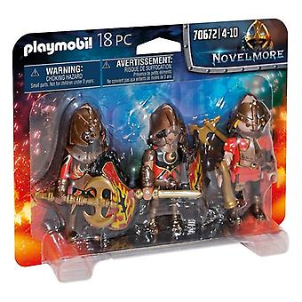 Set of Figures Novelmore Fire Knigths Playmobil 70672 (18 pcs)