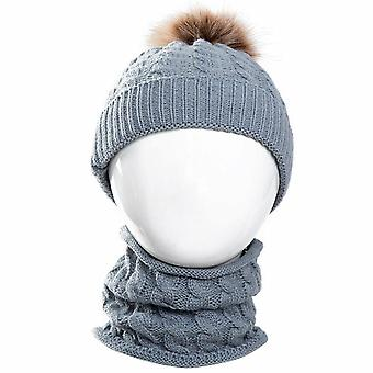 Winter Warm Knit Hat Scarf for Toddler Kid
