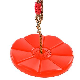 جولة سوينغ باتيل سوينغ خارج وداخل جولة بلاستيكية التسلق سوينغ للأطفال والأطفال (الأحمر)