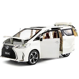 1:24 Diecast למשוך בחזרה מכונית צעצועים אור סימולציה סימולציה Mpv מכונית מודל