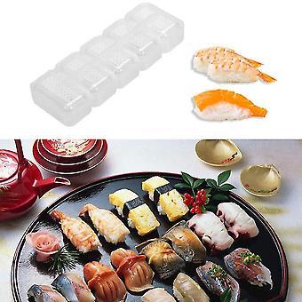 5 Rolls Sushi Mold Transparent High Temperature Resistance Sushi Making Kit