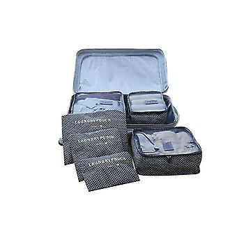 6pcs Luggage Organiser Waterproof Clothes Storage Bags Cubes Travel Organizers Luggage