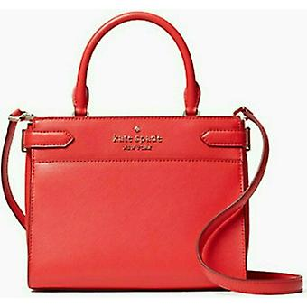 Kate Spade Staci Red Leather Medium Satchel Crossbody Bag WKRU6951