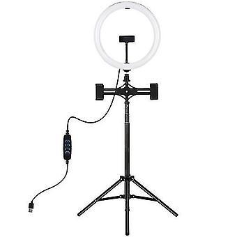 PULUZ 11.8 pulgadas regulable led luz de fotografía con soporte de luz de trípode & Titular del teléfono