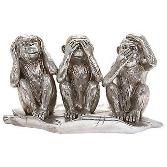 Silver Art Three Wise Monkeys By Lesser & Pavey