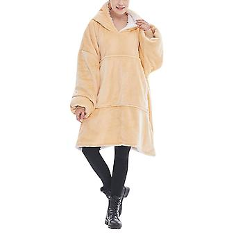 Silktaa Ladies Solid Color Hooded Cold-proof And Warm Pajamas