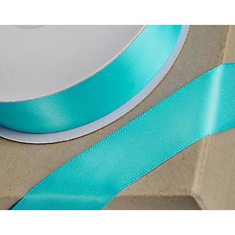 25m Aqua Blue 10mm Bred Satin Band för hantverk