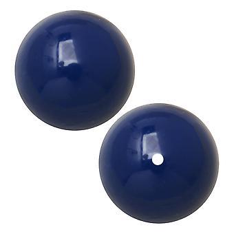 Preciosa Crystal Gemcolor Pearl, Runde 8mm, 20 stykker, Navy Blue