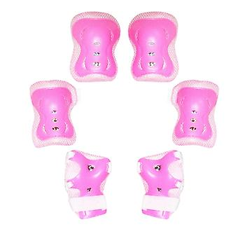 Seeunique Kids Protective Gear 6 In 1 Set - Toddler Knee And Elbow Pads With Wrist Guards For Rollerblade Roller Skates Cycling Ect.