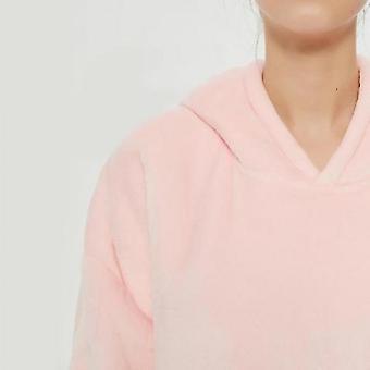 Lazy Blanket Hooded Blanket Sweatshirt Wear-resistant Blanket Men And Women Robe(Pink1)