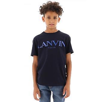 Lanvin Kids Navy Kortärmad T-Shirt