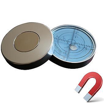 Magnetisch metaal Grote Spirit Bubble Level 60mm Diameter, Blauw / Zilver