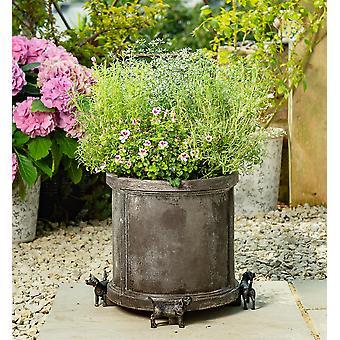 Potty Feet Decorative Beagle Themed Plant Pot Feet - Bronze Color - Set of 3
