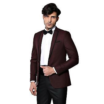 Käänne mallinnettu viininpunainen sulhanen puku | Kävi koulua wessi