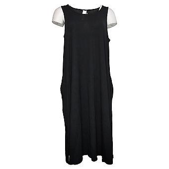 WynneLayers av MarlaWynne Dress Jersey Strikket Tank Med Lommer Svart 741379