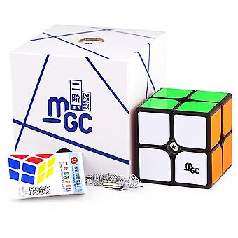 2x2 Magnetic Magic Cube Black Or Stickerless  2x2x2 Speed Cube For Brain Training Toys