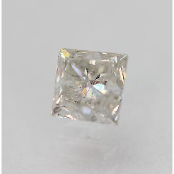معتمد 0.61 قيراط G SI2 الأميرة تعزيز الماس فضفاضة الطبيعية 4.2x4.07mm
