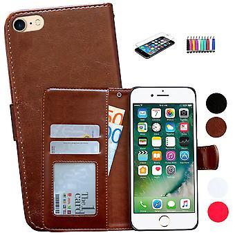 Iphone 5/5s - Plånboksfodral I Läder + 3 I 1 Kit